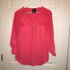 New Directions Pink 3/4 Sleeve Top